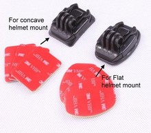 Promotional cheap GP14 3M sticker Set (3pcs for flat 3pcs for arc mount) for GoPros Heros 3+/3/2/1