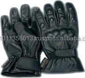 Black Pro-Biker Motorcycle Gloves