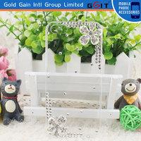 Hot Selling Handwork Diamond Flower Case For LG L3 E400,For LG L3 Cover