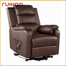 luxury leather electrical lift chair push back recliner sofa RH-8383