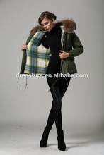 2015 alta moda calidad superior ruso mujeres alemania piel forma delgada abrigos