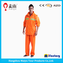 yellow color emergency pvc military rainsuit poncho for sale