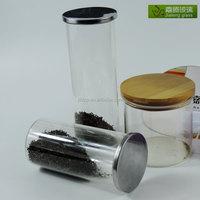 The popular hermetic glass storage jars/spice coffee tea jar with lid