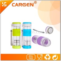 Double wall separation of tea glass water bottle with all sorts of color