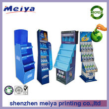New excellent corrugated cardboard counter display stand for exhibition or magzines