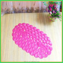 Fashion deco china supplier hot sale corner shower mat anti-slip pvc