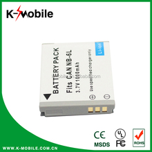 CE Approved Double IC Protected Rechargeable Original Digital Camera NB-6L For Canon Camera Battery