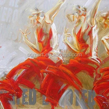 Hot design dancing oils ballet girl painting on the wall Beautiful ballet girl oil paintings on Canvas no frames photo