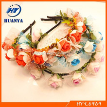 Handmade foam flower hair band girls party accessory