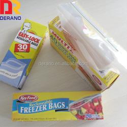 Waterproof LDPE plastic custom zip top bags