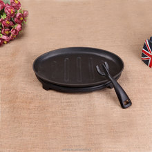 non stick beef steak plate with removable handle