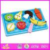 2015 Hot sale high quality wooden fruit toy, new and popular children fruit toy, kids Role Play fruit toy W10B059