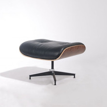 Designer Replica Charles Emes leather lounge chair with bentwood & 2015 new style ottoman / footstool leather stool