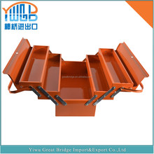 high quality orange color cheap and simply metal tool box GB-A0008