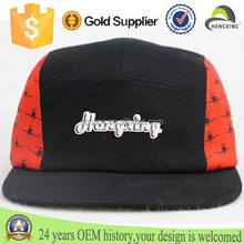 China cap supplier cheap custom 5 panel hat black cotton 5 panel hat