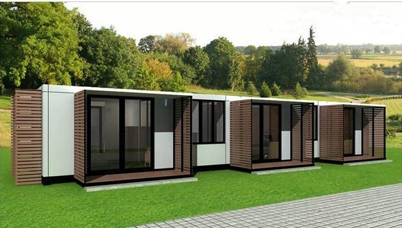 Garbage containers use prefabricated house prices a for Prefabricated underground homes