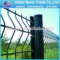 alibaba express Green coated welded metal fencing panels / Green powder bending garden fencing