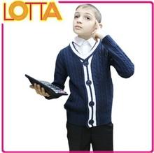 Instocks factory price high quality children clothes boys sweater jacket school uniform