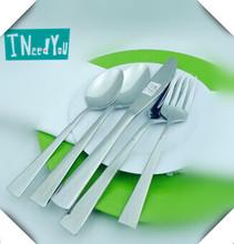 stainless steel tableware with knife, spoon, fork spoon