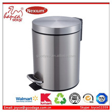 Jiangmen Walmart 3-30L round shape stainless steel foot arch can with buffer Manufacturer