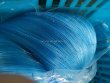 Shiny blue double knot nylon monofilament fishing net with best quality