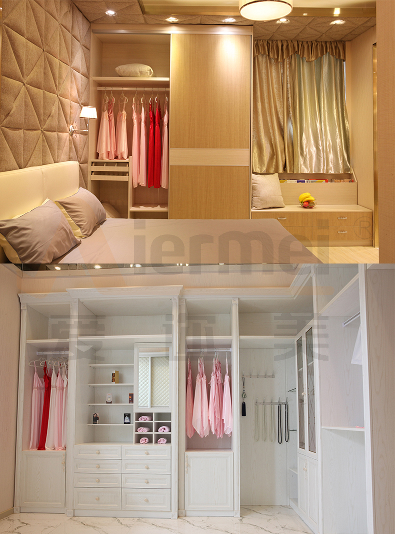 door closet hotel furniture high gloss lacquer glass bedroom wardrobe