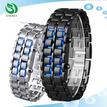 Hot Sale Style Men Sports Watch Blue Lava Cheap LED Watch