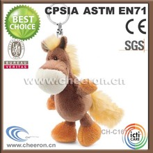 Excellent items mini plush horse keychain