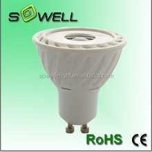 5w 85-265V 49*H54mm Aluminum+plastic COB gu10 LED spot lighting