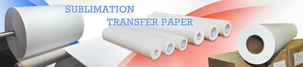 Visão do papel de transferência de água a jato de tinta com branco e claro