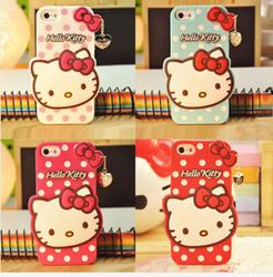 new arrival 3D cut hello kitty silicone case for iphone 6 6s,for iphone 6 6 plus 3D cut cartoon hello kitty silicone case