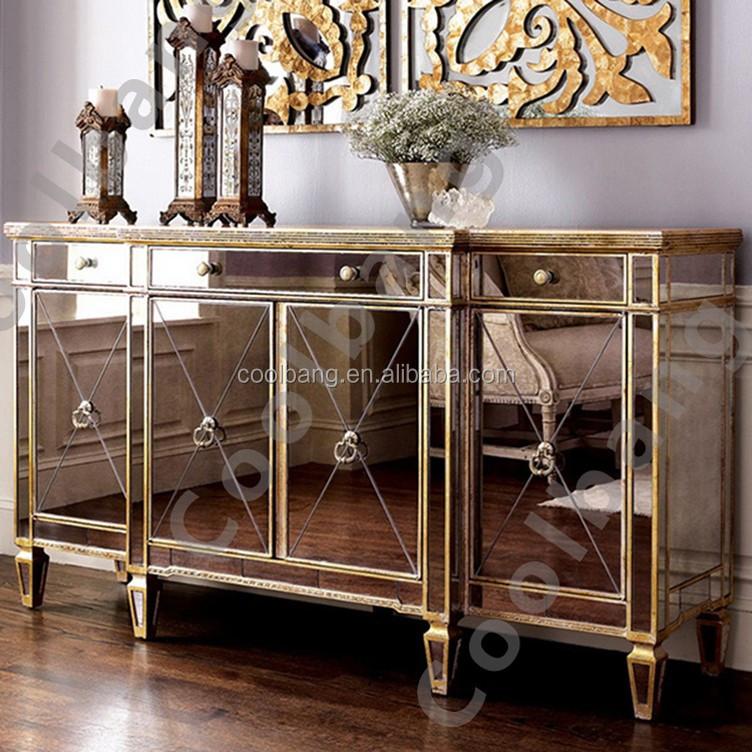 CBM032 아름다움 미러 뷔페 식당 테이블 카운터 서랍 호텔 및 ...