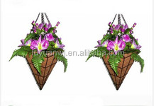 Garden Hanging Basket with coconut fibre for sale (factory)--Your Best Choice!!!
