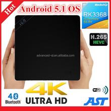 I68 Octa Core Google Android 5.1 Smart TV BOX Rockchip RK3368 Android TV BOX Pre-install KODI