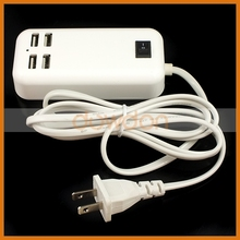 Cheapest 4 Ports USB Charger Wall Mounted USB Charger 5V 3.1A (OEM manufactory)