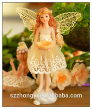 2014 China Supplier hot new products resin wings fairy statue, wholesale wings fairy statue