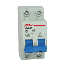 2P 40A mcb miniature circuit breaker with ISO9001