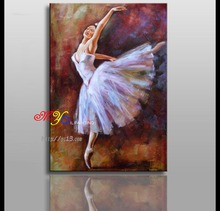 Remarkable dancing girl oil painting on canvas ct-126