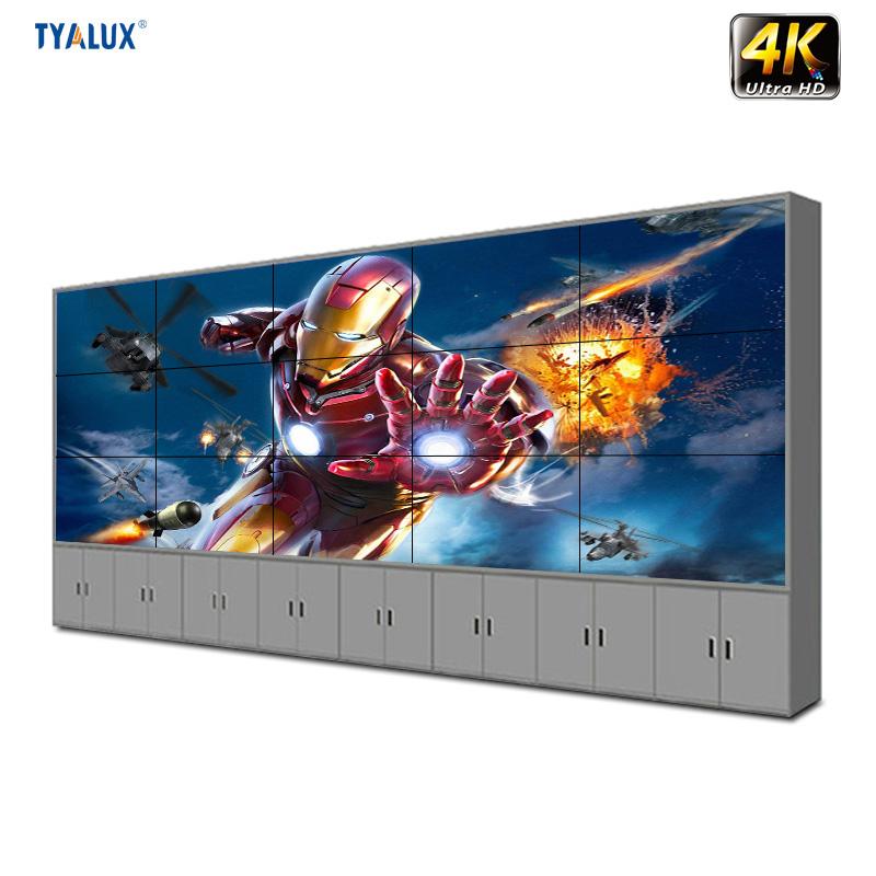 Nhà sản xuất cung cấp Samsung lcd hiển thị hd 3x3 LCD ĐÃ LÀM bức tường video các bức tường 55 inch 3.5 mét liền mạch tv tường