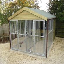 Alibaba high security galvanized dog kennel/welded 5*10*6 dog kennel