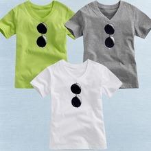 Unisex v-neck children t shirt