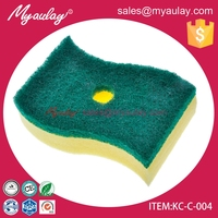 KC-C-004 kitchen abrasive foam sponge scouring pad scrubber for cleaning tools