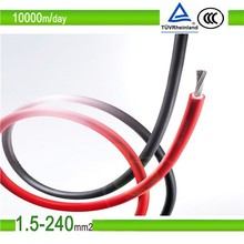 one core xlpo pv1-f 6mm2 tinned copper wire solar cable, TUV approved