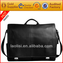 Guangzhou brown leather men handbag handbag organiser