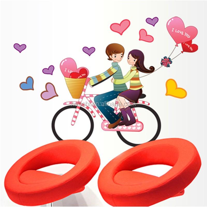 자전거 연인 벽 스티커 커플 자전거 로맨스 패션 웨딩 룸 거실 ...