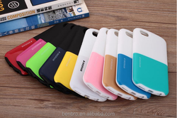 Hot selling Wholesale China Cute Doulbe Color Two-tone Shockproof Protective Silicone Case for iPhone 6 Capsule Design Case