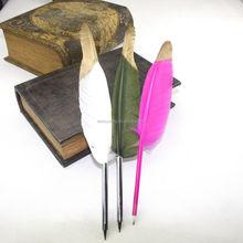 Customized logi gift, turkey feather pen, feather quill pen