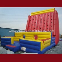 Funny Cheap inflatable climbing wall with obstacle H4-0602