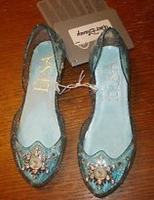 100% Authentic New Disneys Store Frozen Light-up Elsa Shoes