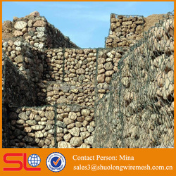Low Price Stainless steel Hexagonal cost of gabion baskets wall